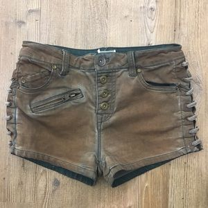 Free People vintage lace up shorts